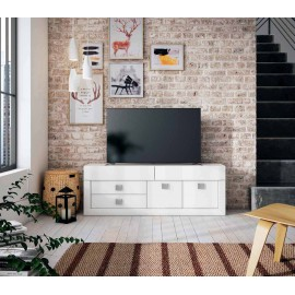 Mueble TV color nieve