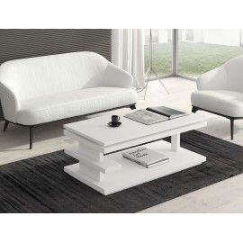 Mesa Centro Elevable color Blanco